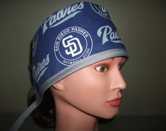 Padres male scrub cap with ties