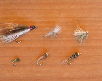 Fly fishing Six-pack of Trout flies, Western Selection, Nice gift for your fisherman