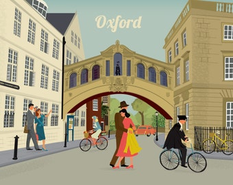 Oxford Greetings Card Bridge of Sighs