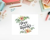 Instant Download - Sweetest Shower Folded Note Card