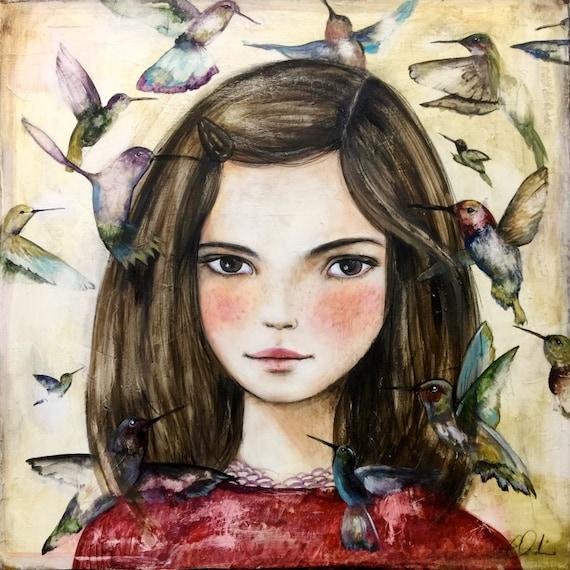 Laurence with hummingbird