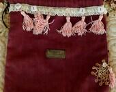 Boho Bag Gift Bag Hobo Bag Gypsy Bag Bohemian Bag Tote Recycled Upcycled #16