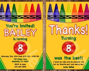 Crayon Birthday Invitation (CR01)