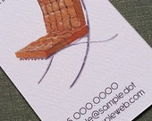 Barcelona Chair Busines Card, Mid Century Chair - Set of 50