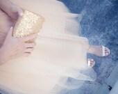 Champagne Tulle Skirt, Extra Full Skirt- Chic and Modern, Tulle skirt, Tutu, reception dress