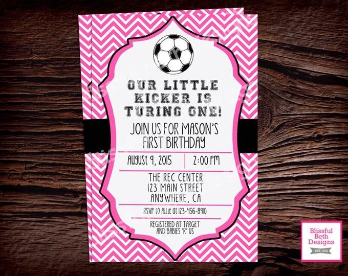 SOCCER BIRTHDAY INVITATION  Soccer First Birthday Invitation, Printable Soccer First Birthday Invitation, Soccer Birthday Invite, Soccer