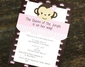 Queen Of The Jungle Baby Shower Invite