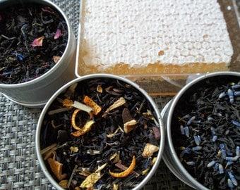 Earl Grey Sampler Earl Grey Crème Vanilla,Organic Earl Grey Lavender, Earl Grey Chocolate and Earl Grey Blue Flower