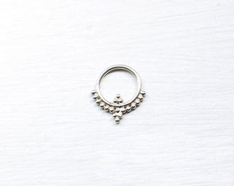 Silver tribal Septum/small earring