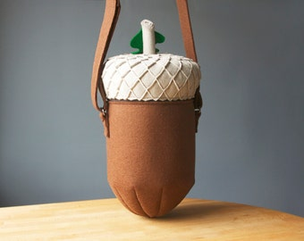 Acorn Bag Cute Woodland Walk Purse Felt Bag