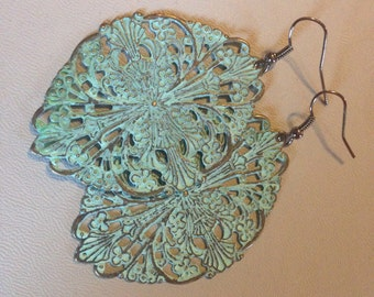 Teal Vintage Earrings