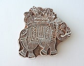 Elephant Stamp, Wooden Printing Block, Hand Carved Wood Stamp, Handmade Indian Stamp, Ceramic Pottery Textile Clay Craft Stamp, India Decor
