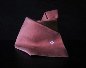 Pierre Cardin Mens Necktie Musk Salmon Pink Cotton 70s