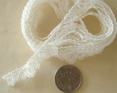 "Poly Lace Trim White Color 1/2"" Wide 2 1/2 Yards."