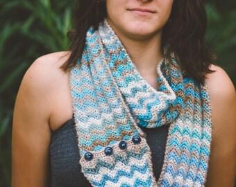 Crochet Convertible Cowl Scarf