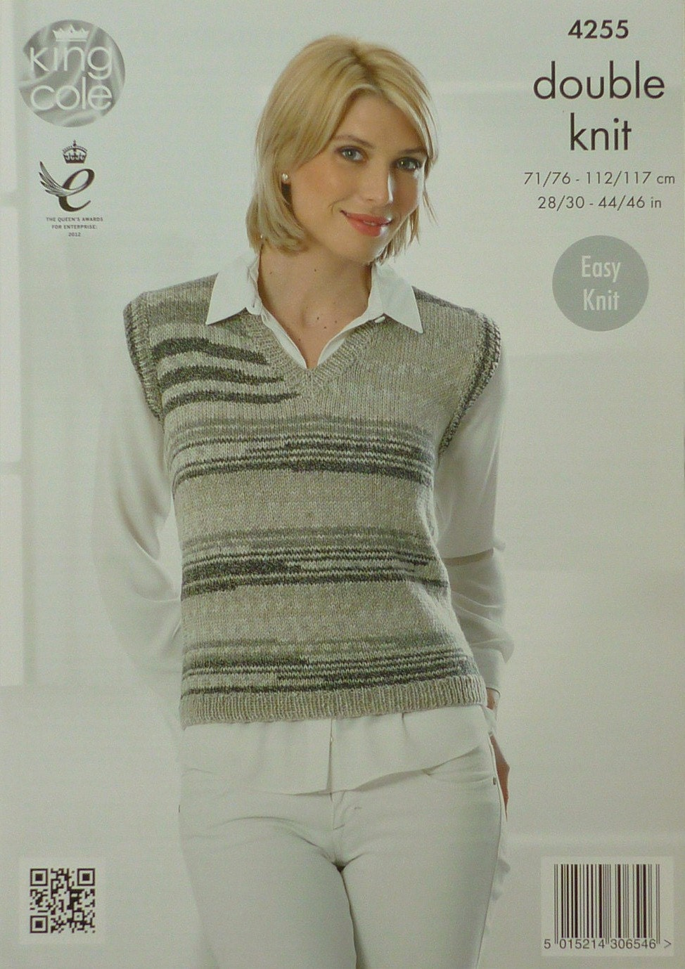 Knitting Pattern Ladies V Neck Jumper : Womens Knitting Pattern K4255 Ladies Sleeveless V-Neck Easy Knit Jumper Knitt...