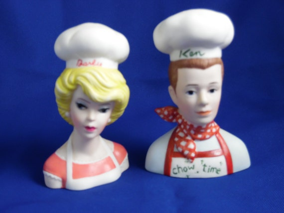 Unique Salt And Pepper Shakers Barbie And Ken By