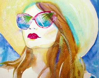 Summer Dreaming Watercolor - Original Painting