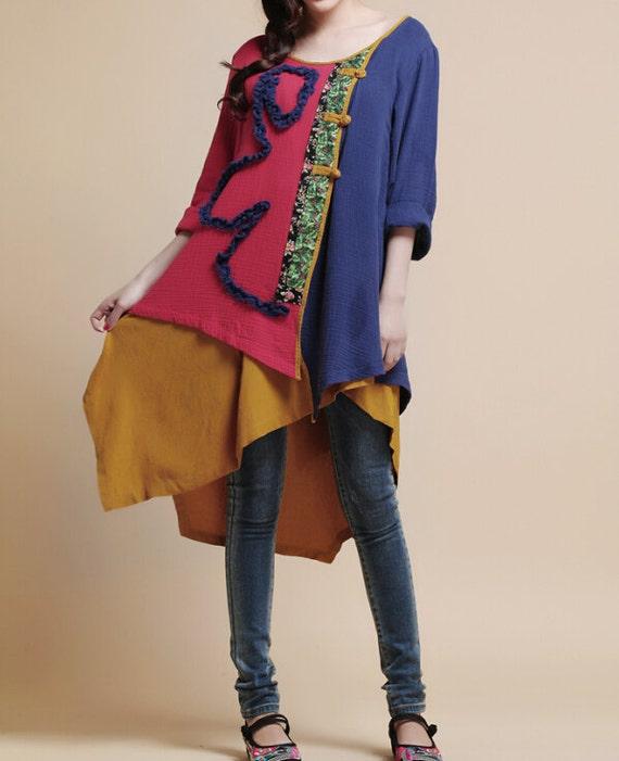 Cotton Loose fitting Women blouse shirt
