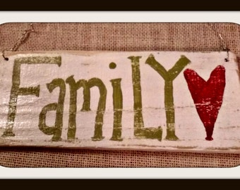 Hand painted wood sign,custom wood sign,Love,Hearts,Heart, WoodFamily Rustic Wood Reclaimed Pallet Sign