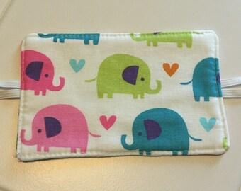 Door Silencer / Door Latch Cover / Door Muff / Colorful Elephants