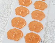 Bumble Bee Faux Wax Seal Stickers.  Stickeroni Hallmark.  New Pack of 12.  Snail Mail Scrapbooking Packaging.