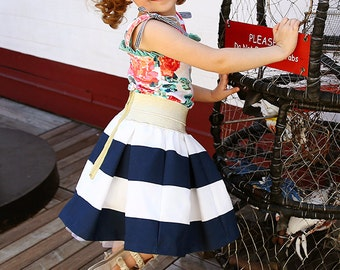 NEW:Quinn Skirt and Top PDF Pattern & Tutorial,  All Sizes 2T-10 years included, Instant Download