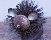 """Assemblage, Found Object,  Hedgehog """"Parker"""""""