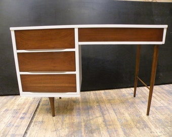 SOLD - Two-Tone Mid Century Modern Desk