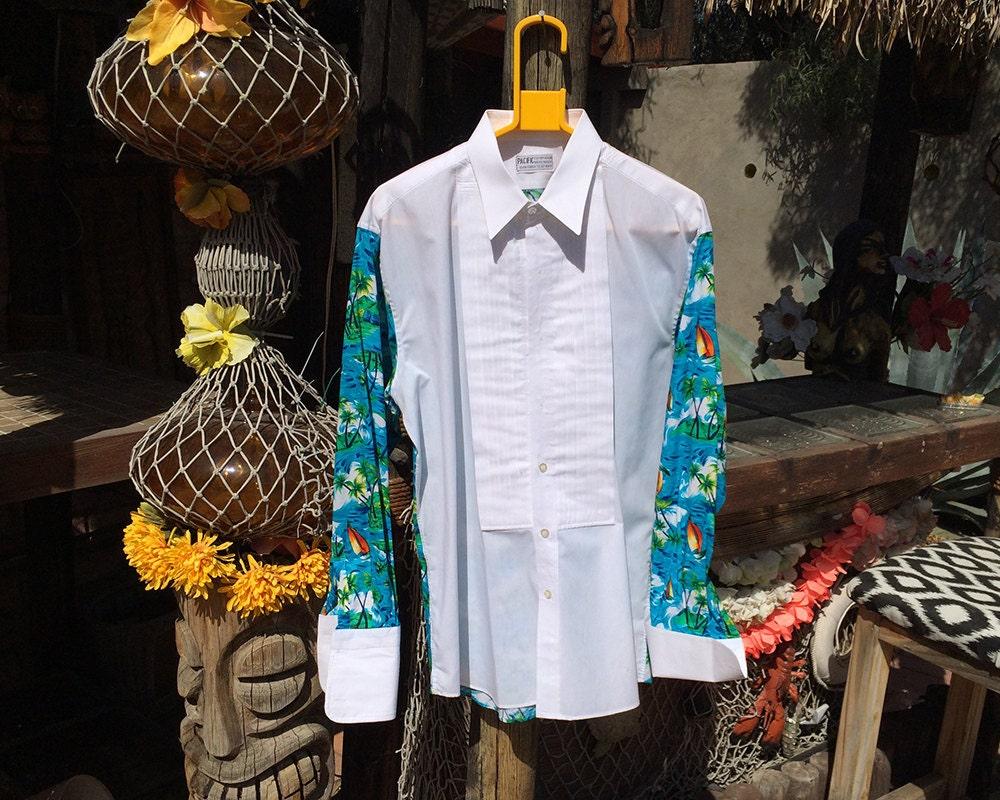 vintage 70s hawaiian wedding shirt 1970s men 39 s hawaiian