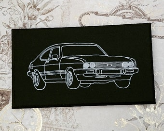 Ford Capri Mk 3 Illustration Classic Car Wooden Hanging Sign Plaque Hand Painted Gift
