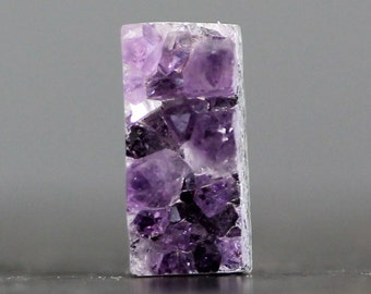 CLEARANCE Amethyst Druzy, Rectangle (C9847)