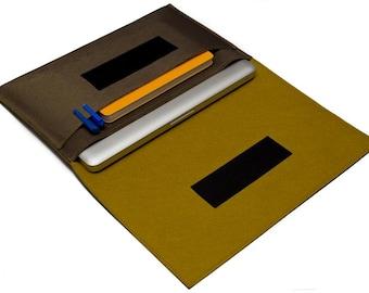 """MacBook Air Case, 13"""" Macbook Case, MacBook 11 inch case, 13"""" MacBook Air sleeve, 11 inch macbook air case - Gold & Dark Golden Rot"""