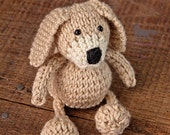 Knitted Dog Stuffy Newborn Prop