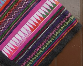 Hmong textile for DIY project // material // fabric // quilt // embroidery // colorful  // collectible  // patchwork // pillow // OOAK