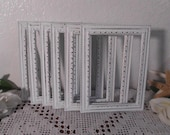 White Shabby Chic Picture Frame 5 x 7 or 4 x 6 Photo Decoration Spring Summer Wedding Reception Table Number Decor Country Cottage Home