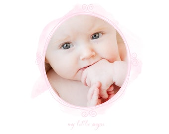ON SALE***** Simply Pink Baby Girl Photobook Template Photoshop Album Template Square Format