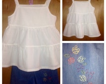 Summer Top and Shorts, girls size 7