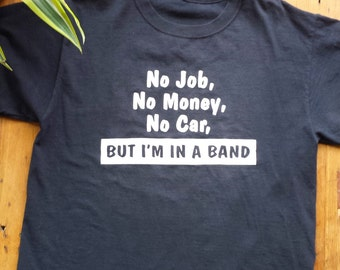 SALE///Vintage Funny Band T-Shirt, Size M-L