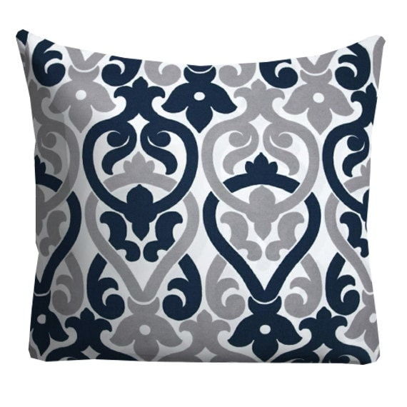 Outdoor Pillow Covers Navy Grey Outdoor Pillows Outdoor