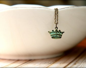 Verdigris Crown Necklace