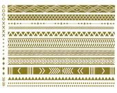 Tribal and geometric inspired, all gold, metallic temporary tattoo armbands- metalic tattoos, flash, armbands, gold tattoos, gold bracelets