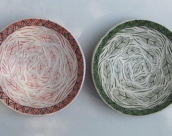 ceramic cereal bowl ( set of 2) -hand built ceramics -pottery bowl