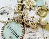 PERSONALIZED Granna Necklace Gift Mom Mother GIFT Grandchildren Jewelry Grandma Nonna Granna Light Polka Dot Momma Jewelry