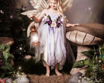 Sugar plum fairy dress costume for weddings, flower girls,birhdays,Halloween , tea party , photo prop