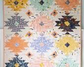 Wild Blooms Modern Aztec Quilt Pattern PDF Instant Download Southwest