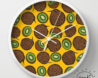 Kiwi Clock, Kiwi Home Gift, Kiwi Decor, Kiwi Birthday Gift, Kiwi Room Decor, Kiwi Interior, Kiwi Nursery, Kiwi Decor, Kiwi Decoration