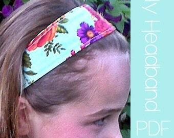 Lily Headband Sewing Pattern PDF