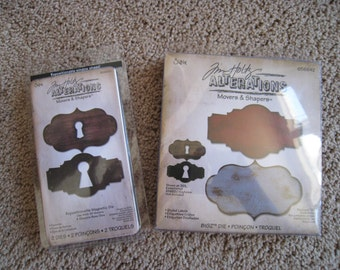 Tim Holtz Sizzix Dies - Styled Labels and Keyholes - Movers and Shapers