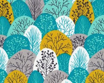 Cloud9 Organic Fabrics - First Light - Spring Woodland Turquoise 1/2 YD